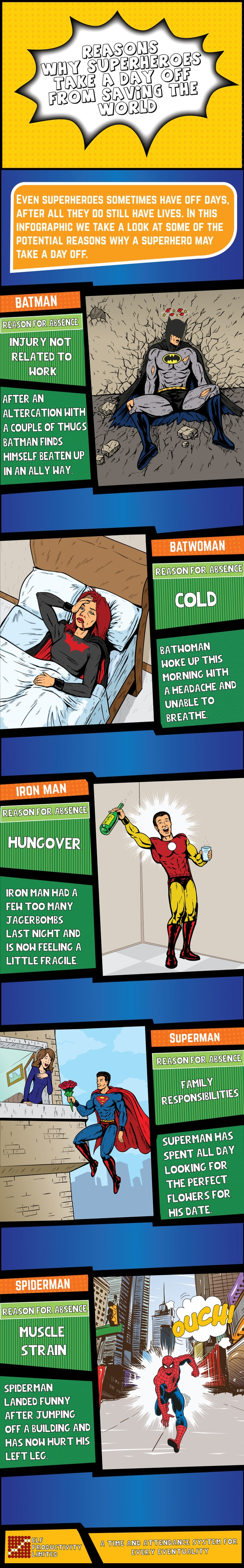 Reasons Why Superheroes Take A Day Off