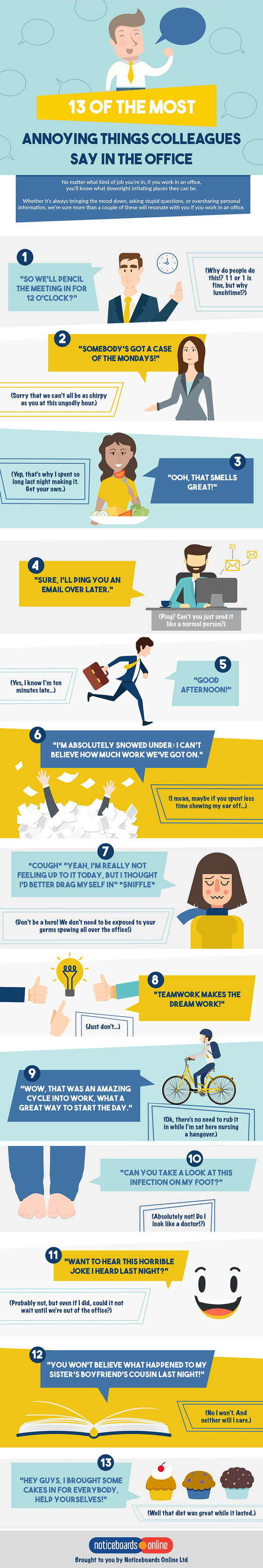 Annoying Things Colleagues Say In The Office