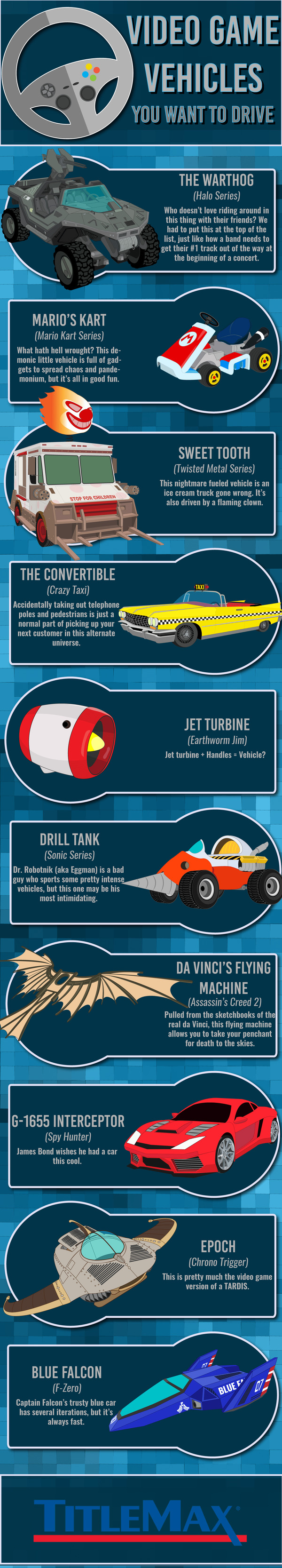 Video Game Vehicles You Want to Drive